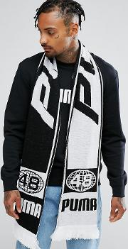 retro football scarf in white exclusive to asos