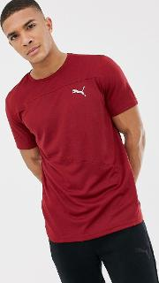 Running Mono T Shirt Burgundy 517242