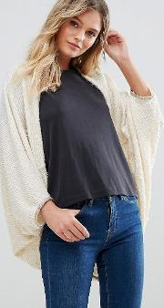 batwing cardigan with button front