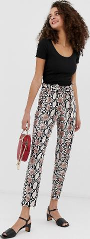 Paperbag Waist Peg Trousers