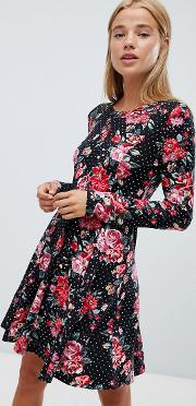 Soft Touch Floral Swing Dress