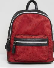 backpack with mesh overlay