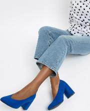 Block Heel Pointed Shoes
