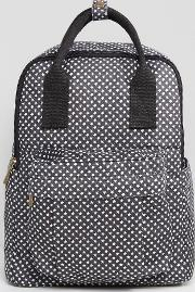 star print backpack with front pocket
