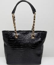 tote bag with hardware strap
