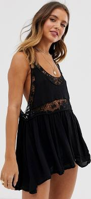 All Nighter Crochet Lace Vest Top