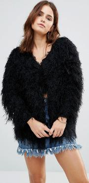 almost famous shaggy cardigan