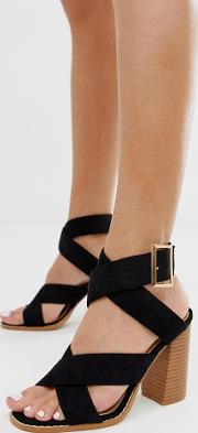 Abree Stacked Block Heeled Sandals