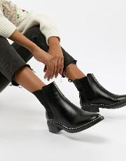Apple Studded Chelsea Boots