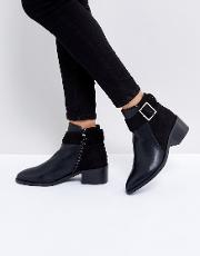 aria buckle ankle boots