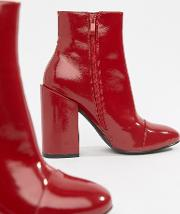 Dolley Patent Heeled Ankle Boots