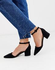 Julia Ankle Strap Mid Block Heeled Shoes