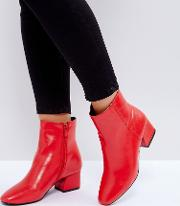 Sierra Red Ankle Boots