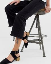 String Ankle Strap Mid Heeled Shoes