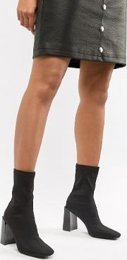 Vernon Heeled Stretch Sock Boot