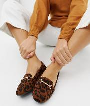 Viera Leopard Snaffle Detail Flat Shoes