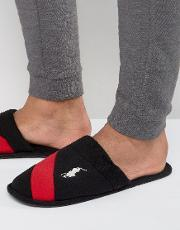 rugby crest slip on slippers
