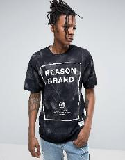 logo t shirt in acid wash