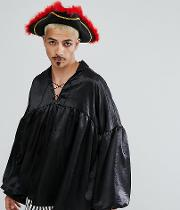 Halloween Inspired Pirate Shirt Lace Up Front