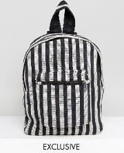 inspired backpack with stripes