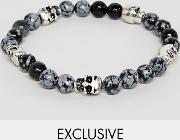 inspired beaded bracelet with skulls exclusive at asos