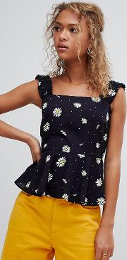 Inspired Cami Top Ditsy Print