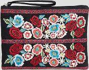 Inspired Embroidered Floral Clutch Bag