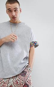 inspired festival  shirt with aztec tape