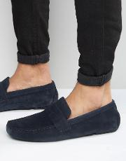Driving Shoes  Navy Suede