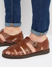 gladiator sandals in brown