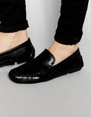 penny loafer in black leather