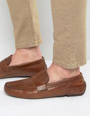 penny loafer in tan leather