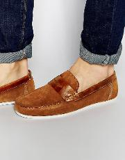 Penny Loafers In Tan Suede