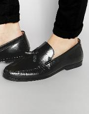 tassel loafers in black leather