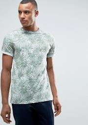 t shirt with all over palm print