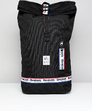 classic backpack with logo taping  black dh3565