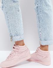 Classic Freestyle High Top Trainers  Pink
