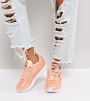Classic Patent Pearl Leather Trainers  Pink