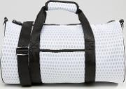 mesh cylinder travel bag white