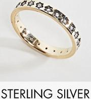 counting stars gold plated sterling silver stacking ring