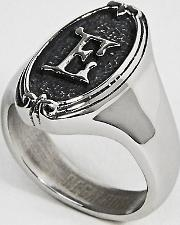 Gothic Framed  Initial Ring