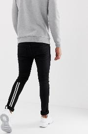 Low Rise Skinny Fit Jeans With Taping