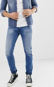 Anbass Slim Eco Laser Blast Jeans