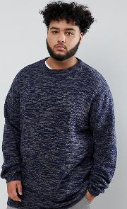 Plus Knitted Crew Neck Jumper