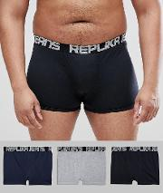 Plus Size 3 Pack Trunks