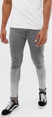 Skinny Fit Ombre Jeans