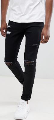 Super Skinny Jeans With Ultra Rips