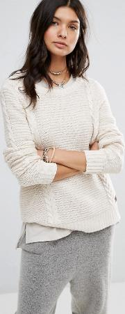 rip curl cable knit jumper