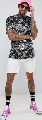 of 66 oversized t shirt in bandana print