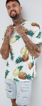 of 66 oversized t shirt in pineapple print